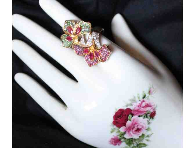 1 GREAT GIFT! A WORK OF ART!  COUTURE TO THE MAX! GENUINE BURMESE RUBIES and more!