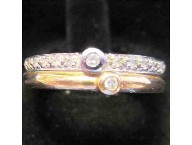 1 LOVELY TWO TONE GOLD DIAMOND BAND
