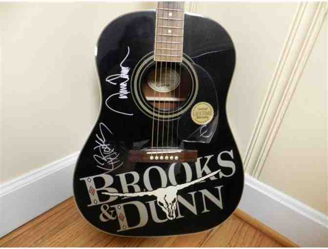 Brooks & Dunn Autographed Guitar