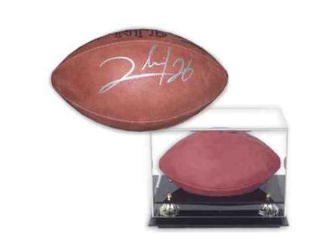 Clinton Portis Hand-Signed Official NFL Football With Deluxe Display Case