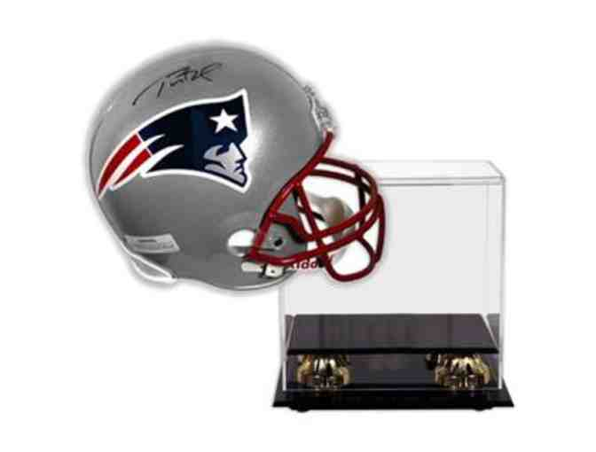 Tom Brady Hand-Signed Official Full Size Helmet With Deluxe Display Case