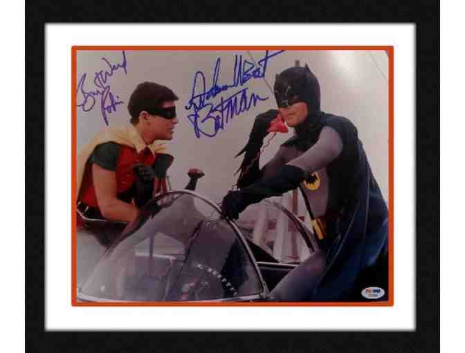 Batman & Robin's Burt Ward & Adam West Dual Signed 11x14 Photo