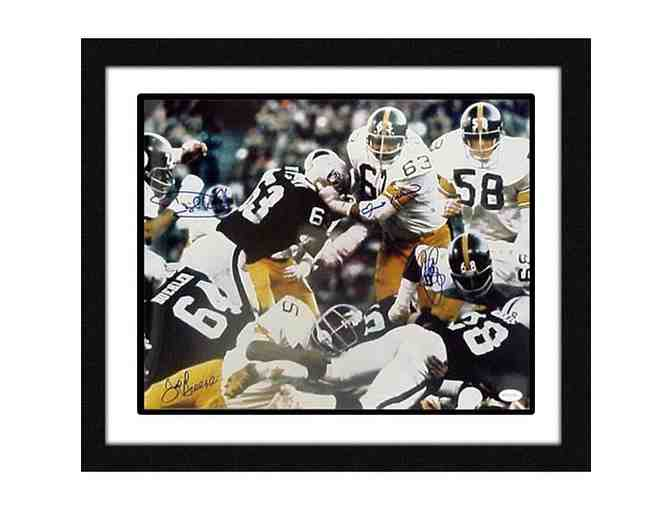 Steel Curtain (Greene, Holmes, Greenwood, White) Signed & Framed 16x20 Photo
