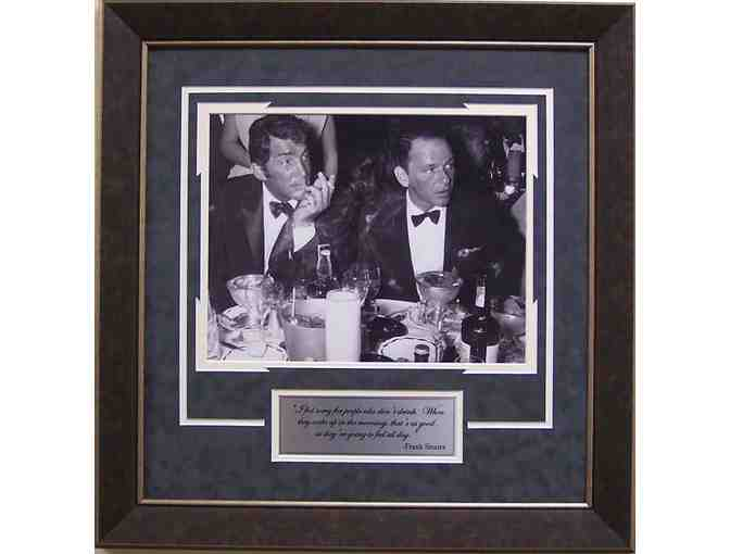 Frank Sinatra & Dean Matin 'Drinking at the Waldorff' Vintage framed Photograph 14x14