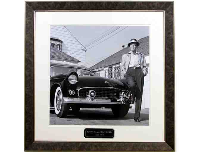 Frank Sinatra and his Tbird Vintage Photograph 14x14