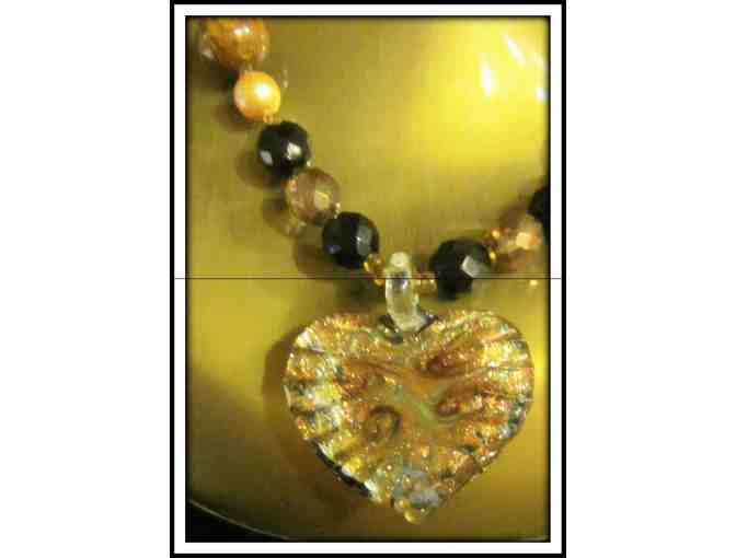 *HEARTS AFIRE:  1/Kind Gemstone Necklace!