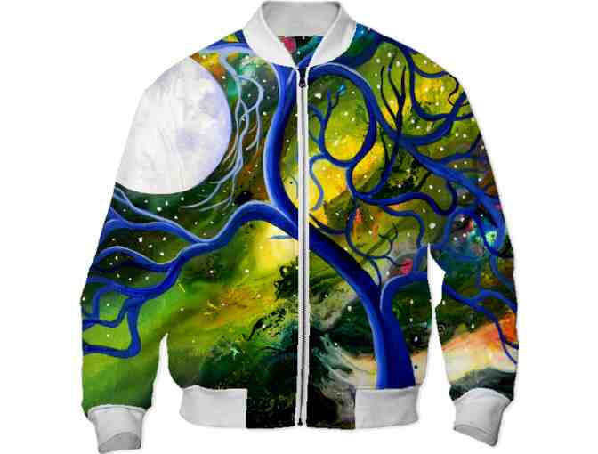*'#106':  WEARABLE ART!  BOMBER JACKET!  'Now I Know' by Brandon Scott