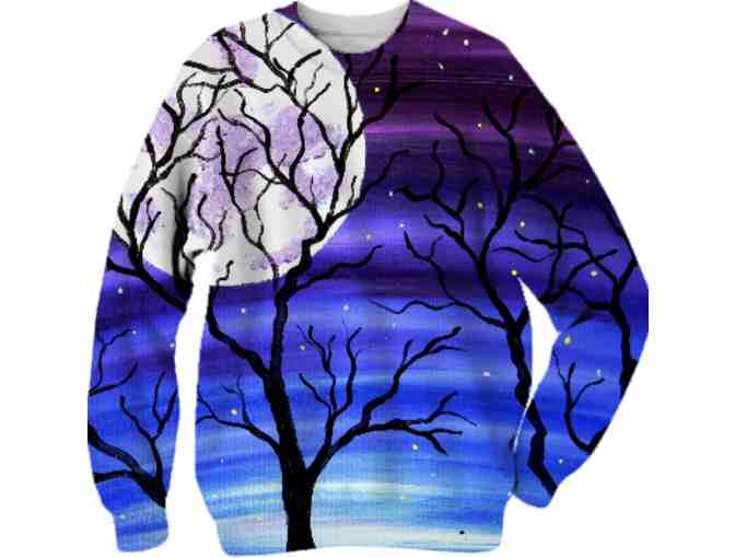 *'#108':  ART TO WEAR SWEATSHIRT!  'TONES OF HOME' by Brandon Scott!