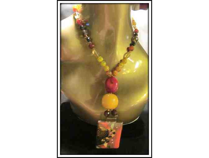 *A WORK OF ART:  1/KIND GEMSTONE NECKLACE