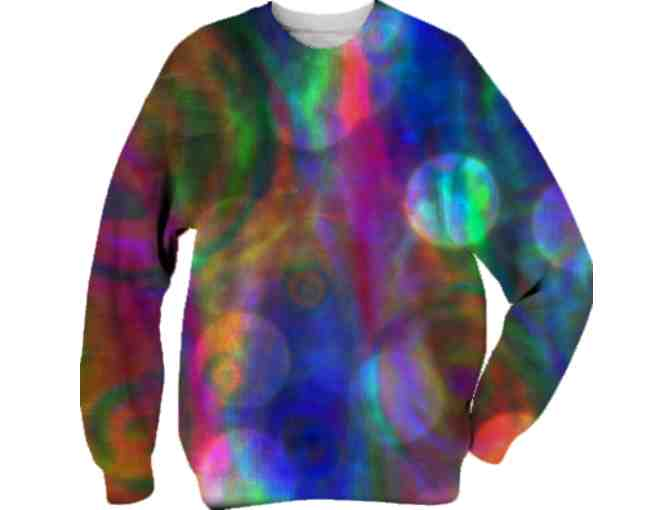 'ABSTRACT POP' BY WBK:  UNISEX ART SWEAT SHIRT!