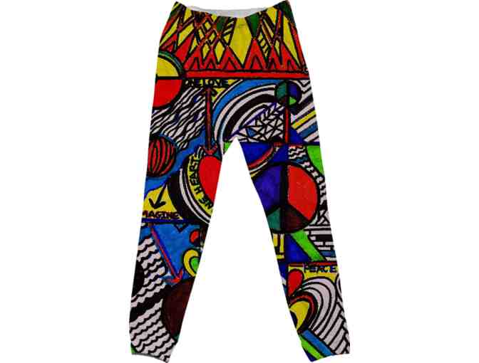 *'#51':  ART TO WEAR:  DRAWSTRING PANTS:  ADVOCATE PEACE BY WBK