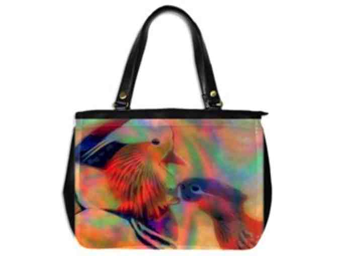 *  'BIRDS OF COLOR': CUSTOM MADE LEATHER TOTE BAG!