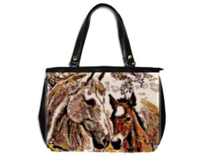 * 'HER LITTLE COLT' BY WBK: CUSTOM MADE LEATHER TOTE BAG!