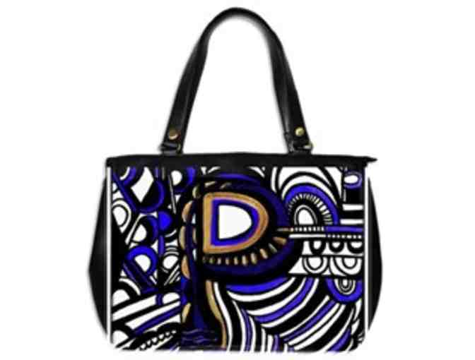 *'EXCLUSIVELY YOURS!':  CUSTOM MADE ART TOTE BAG!:  'INITIAL P'