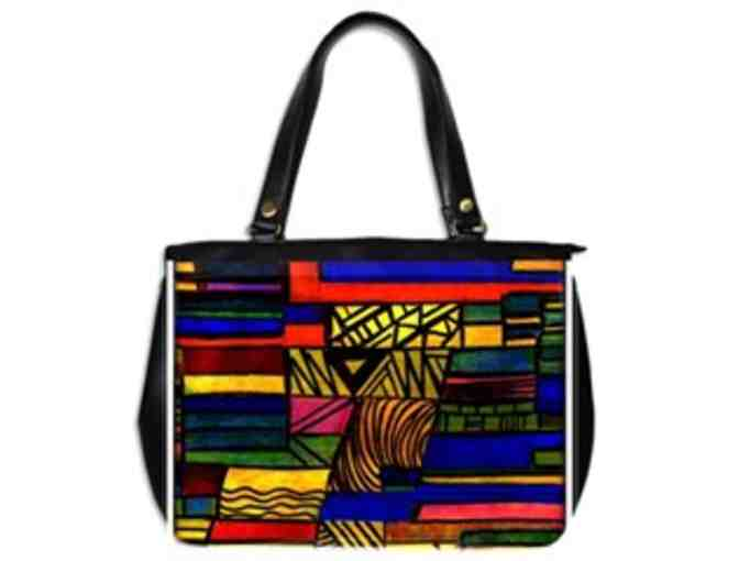 'COMMUNITY WEAVE': CUSTOM MADE LEATHER TOTE BAG!