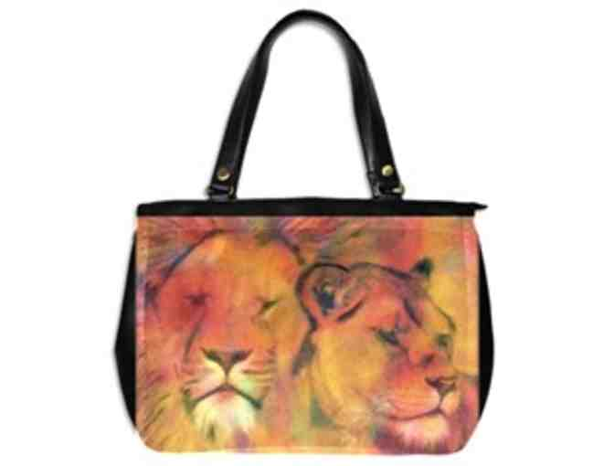 * 'FOREVER LOVE': CUSTOM MADE LEATHER TOTE BAG!