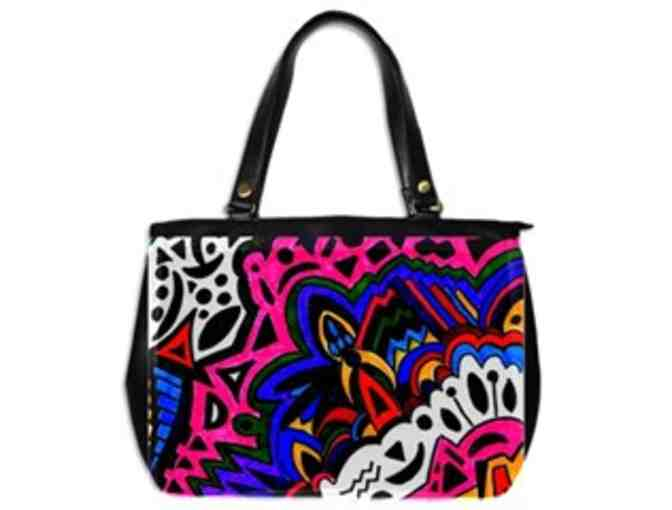 * 'ALIENS AND POP ARTISTS': CUSTOM MADE LEATHER TOTE BAG!