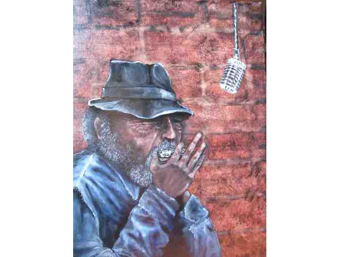 'Harmonica Man' by Artist Theresa Gaylord