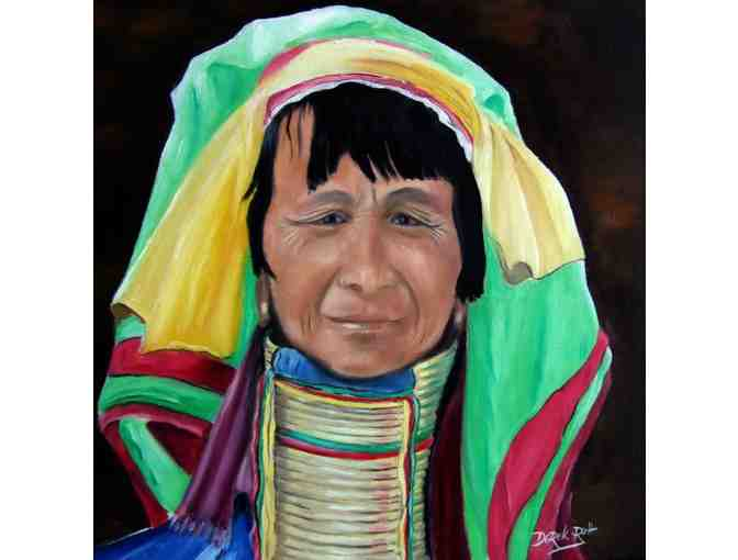 'Northern Long Neck Hill Tribe Lady' by Artist Derek Rutt