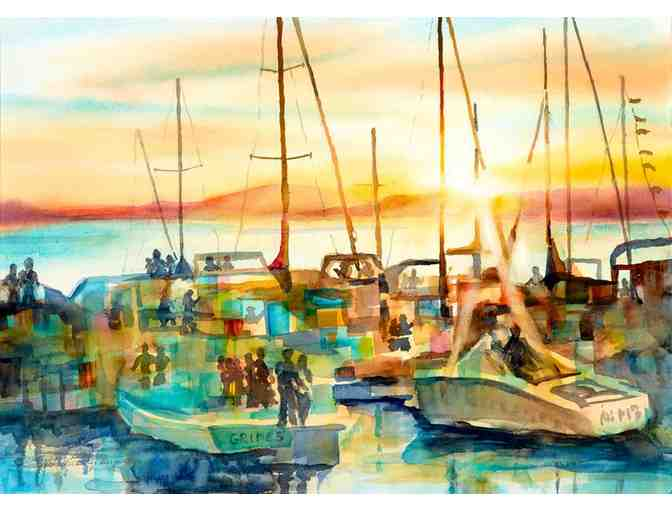 'Waterfront Sunset' by Artist Kathleen Berry Bergeron