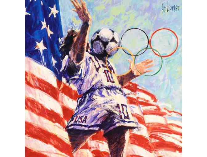 ' 1994 U.S. Soccer Team  Official 1996 Centennial Olympic Games Posters by Aldo Luongo!