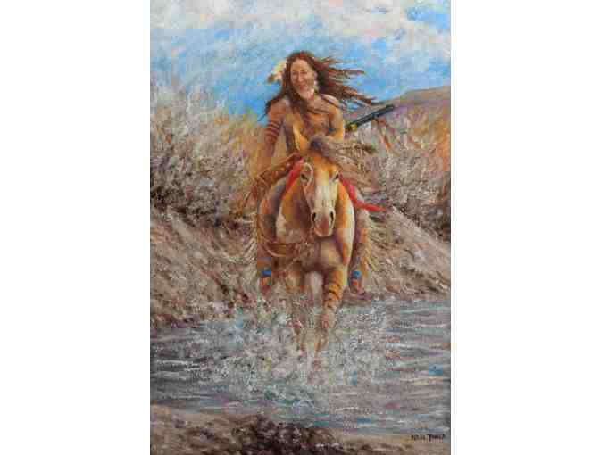 **** 12x9' CANVAS:  'Crazy Horse' by Neil Jones