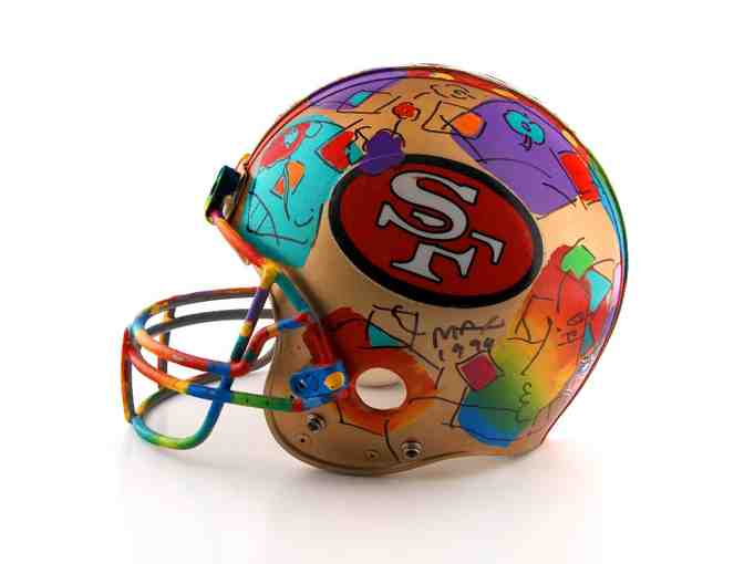 '*1994 Very Rare Peter Max Original Painting on  NFL Lic.,San Francisco 49ers helmut'!