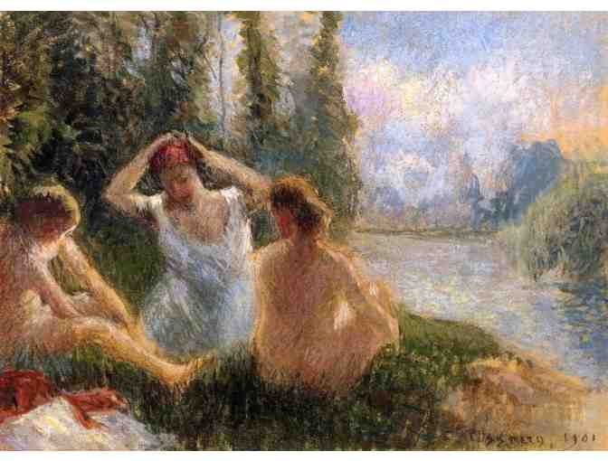 'Bathers Seated On the Banks of a River' by Camille Pissaro