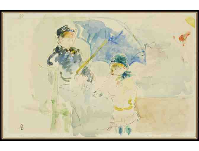 AT THE BEACH IN NICE BY BERTHE MORISOT:  A3 GICLEE PRINT!