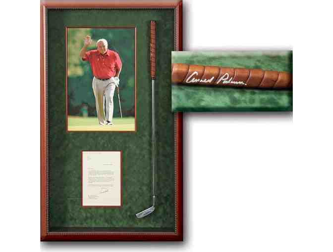 Arnold Palmer Hand Signed Putter Shadowbox with Personalized Letter!