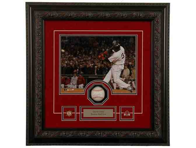 David Ortiz Hand Signed Red Sox Shadowbox