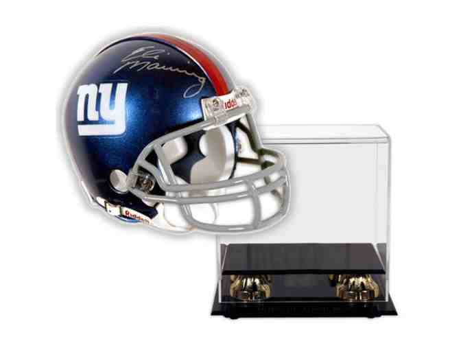 Eli Manning Hand-Signed Official Full Size Helmet With Deluxe Display Case