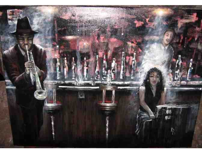 * LOUNGE PLAYERS by Artist Theresa Gaylord:  HUGE LIMITED EDITION CANVAS!