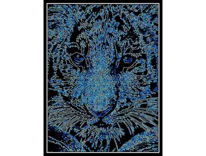 *'BLUE TIGER' by WBK:  HUGE 60x40' Limited Edition Canvas!
