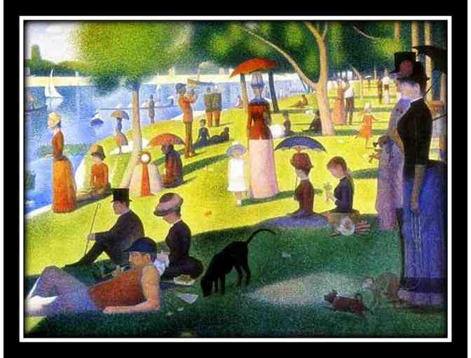 SEURAT:  A3 GICLEE PRINT:  'A SUNDAY AFTERNOON AT LA GRAND JATTE'