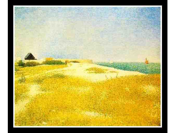 SEURAT:  A3 GICLEE PRINT:  'VIEW OF FORT SAMSON'