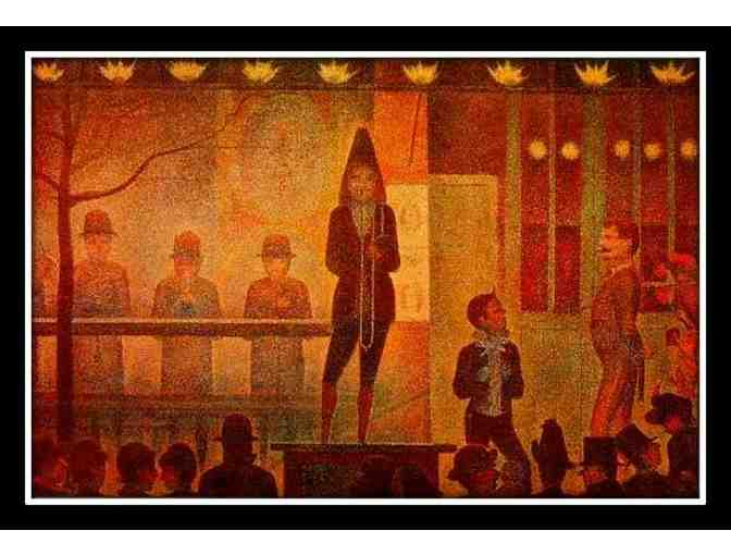 SEURAT:  A3 GICLEE:  'THE SIDE SHOW'