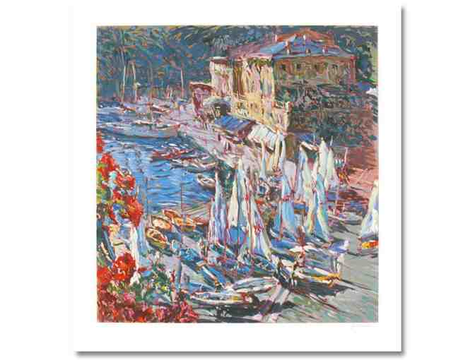 'VALE A PORTOFINO' BY MARCO SASSONE: Ltd. Ed. Serigraph, signed & numbered by the Artist
