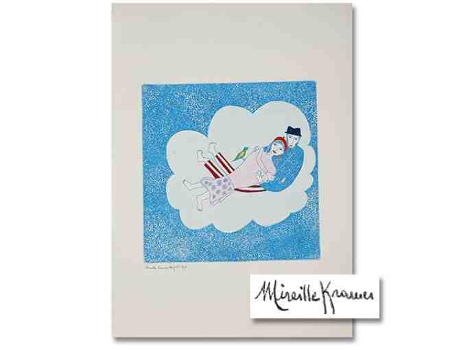 'Lovers In The Sky' by Mireille Kramer: Ltd. Edition Etching, Signed & Numbered by Artist