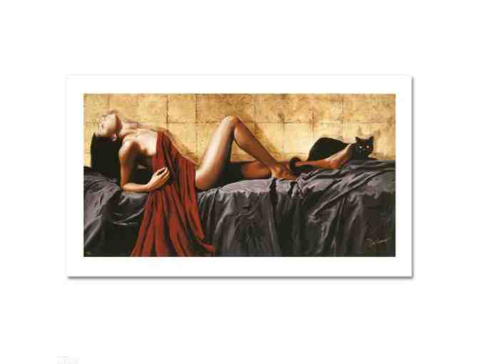 'Les Deux Chats' by Chris Dellorco:  LTD ED Giclee on Canvas (48' x 24') Signed w/ COA