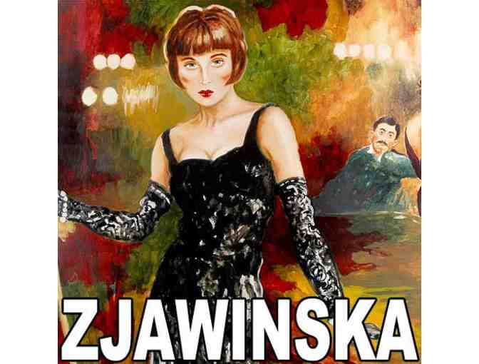 'EVER LOVED A WOMAN?' by Joanna Zjawinksa: Ltd Edition Hand Embellished Serigraph Canvas