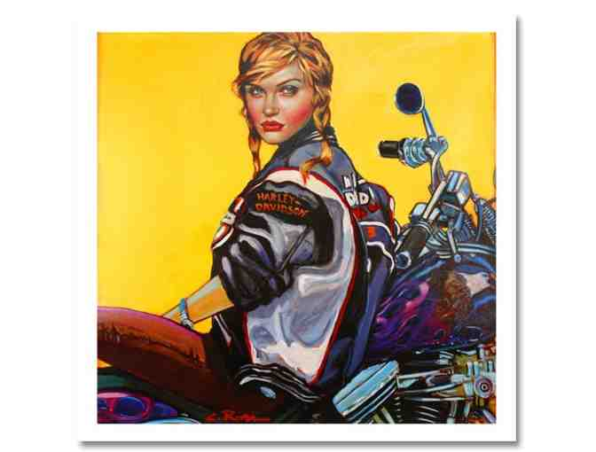 'HERE I GO AGAIN DREAMING' by Colleen Ross: Ltd Ed Serigraph on Canvas, Pre-stretched, COA