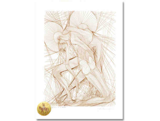 'L'Homme de la Manche' by Guillaume Azoulay: Ltd Edition RARE Etching w/24kt Gold Leaf