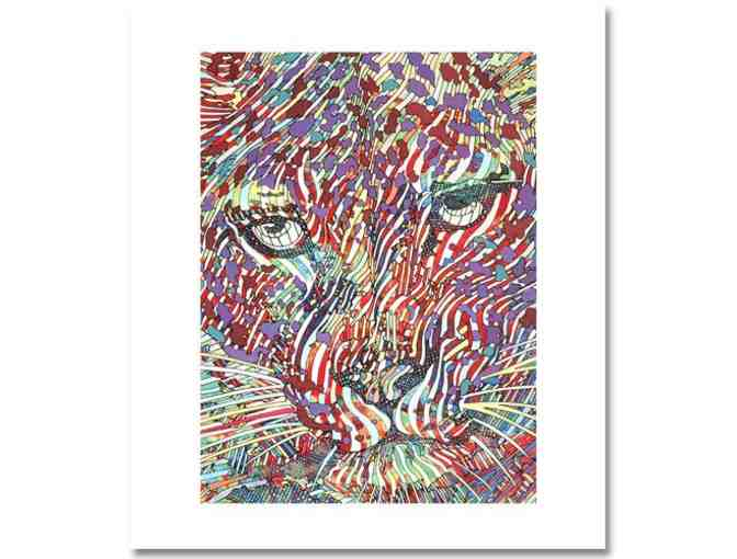 'Leopard' by Guillaume Azoulay. LTD. ED.  Giclee ON CANVAS Signed by the Artist w/COA
