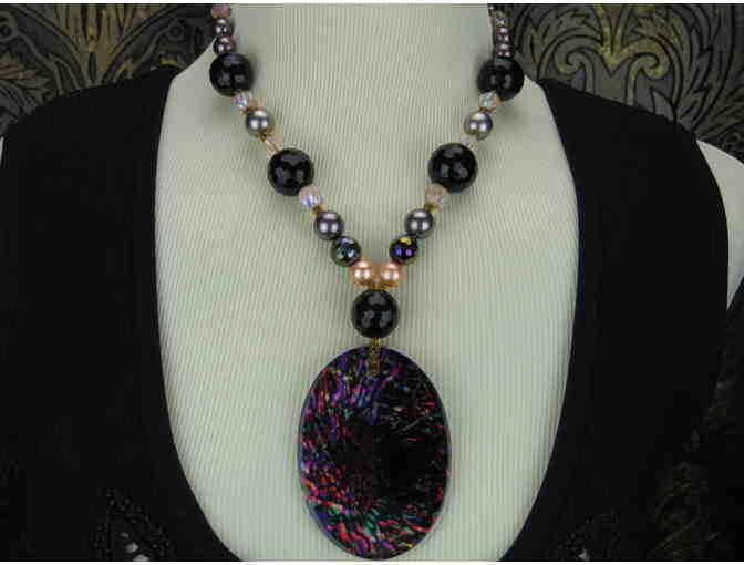 'Journey to the Center of My Mind': 1/KIND Spectacular Necklace , South Sea Shell Pearls !