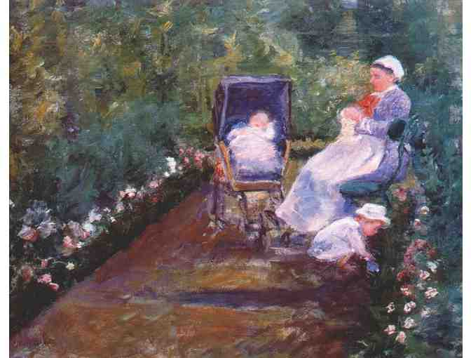 'CHILDREN IN A GARDEN' BY CASSATT