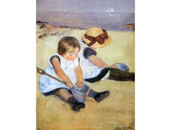 'Children Playing On The Beach' by Mary CASSATT