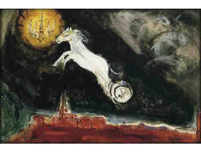 'Finale Of The Ballet' by Marc CHAGALL:  Free Leather ART watch with BID!
