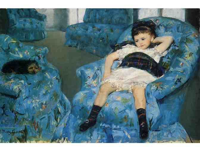 'LITTLE GIRL IN A BLUE ARM CHAIR' BY CASSATT
