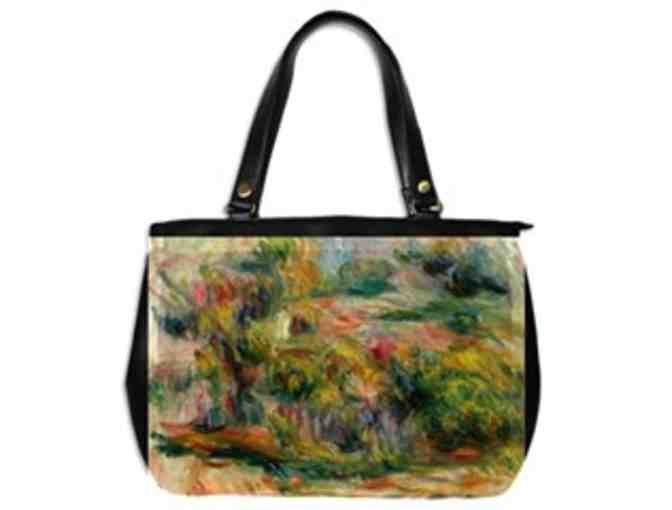 'PAYSAGE' by RENOIR:  Luxury Leather/Art Tote Bag!
